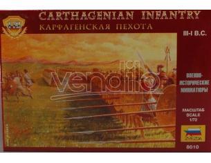 Zvezda Z8010 Carthagenian Infantry Kit 1:72 Kit Figura Militari