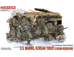 DRAGON D6802 US MARINES KOREA 1950-51 KIT 1:35 Modellino