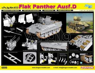 DRAGON D6899 FLAK PANTHER AUSF.D s.Pz.Jg.Abt KIT 1:35 Modellino