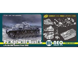 DRAGON D6957 Pz.Kpfw.III Ausf.L s.Pz.Abt502 LENINGRAD 1942-43 KIT 1:35 Modellino