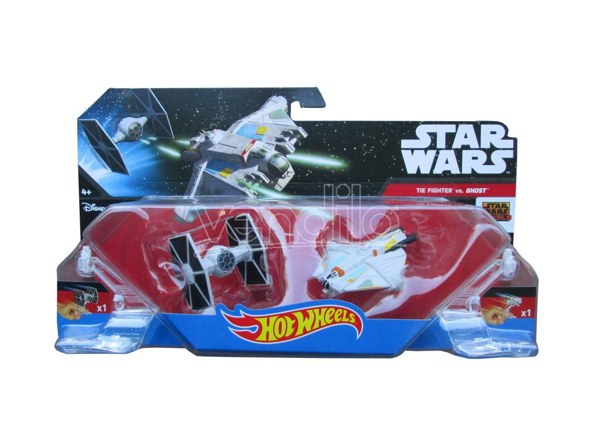 HOT WHEELS:STAR WARS T.FIGHTER VS GHOST WHEELS STAR - MODELLINI E VEICOLI