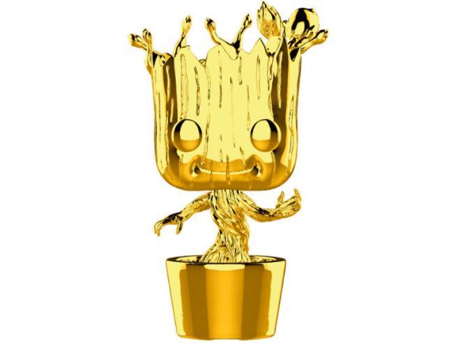 Pop Figura Marvel Studios 10 Groot Gold Chrome Funko