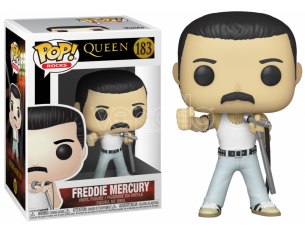 "The Queen Funko POP Musica Vinile Figura Freddie Mercury ""Radio Gaga"" 9cm"