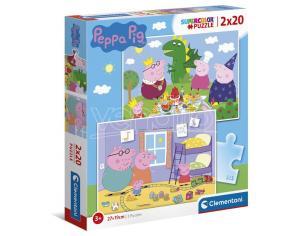 Peppa Pig puzzle 2x20pcs Clementoni