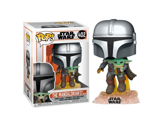 Pop Figura Star Wars The Mandalorian Mando Flying Con Jet Pack Funko