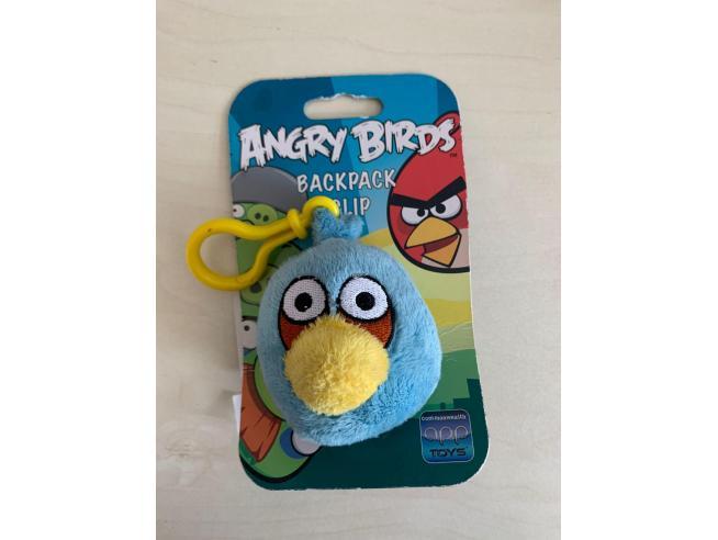 Angry Birds Azzurro Peluche con Clip 7 cm