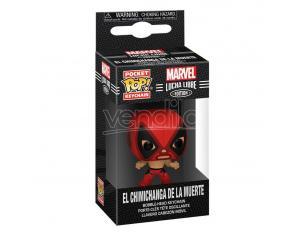 Marvel Luchadores Pocket Pop! Vinile Portachiavis 4 Cm Deadpool Display (12) Funko