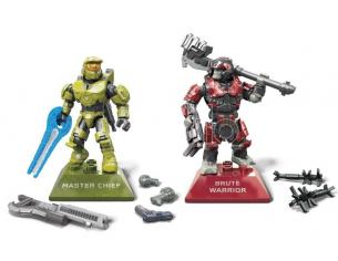 Halo Infinite Mega Construx Pro Builders Construction Set Master Chief Vs. Brute Warrior Mattel
