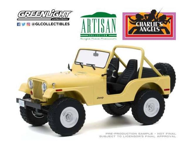 Charlie´s Angels Diecast Model 1/18 1980 Jeep CJ-5 Greenlight Collectibles
