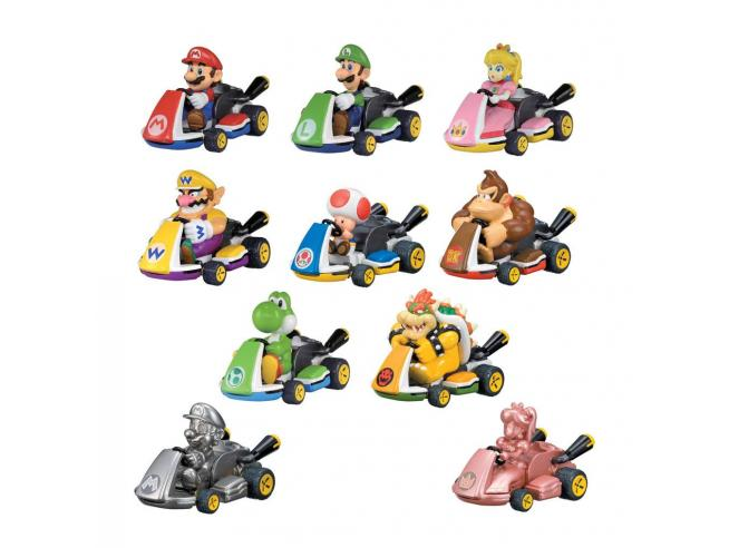 Mario Kart Pull Back Cars Mystery Pack Display (12) Tomy