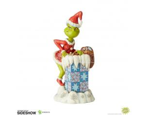 How The Grinch Stole Natale Statua Grinch Climbing In The Chimney By Jim Shore 23 Cm Enesco