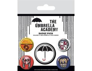 The Ombrello Academy Spilla Badges 5-pack Super Pyramid International