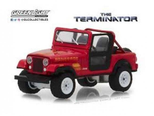 Terminator Diecast Model 1/18 1983 Jeep Cj-7 Renegade Con Figura Greenlight Collectibles