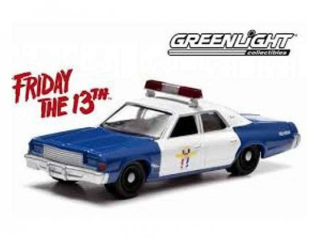 Friday The 13th Diecast Model 1/18 1978 Dodge Monaco Police Greenlight Collectibles