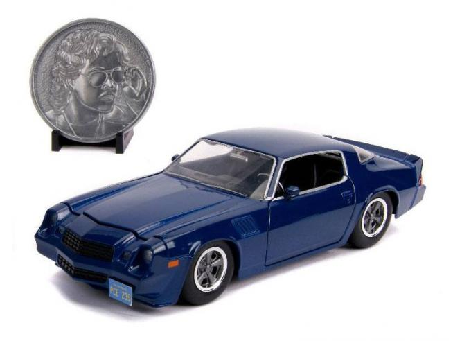 Stranger Things Diecast Model 1/24 Billy's 1979 Chevy Camaro Z28 Con Collectible Coin Jada Toys