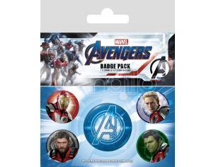 Avengers: Endgame Spilla Badges 5-pack Quantum Realm Suits Pyramid International