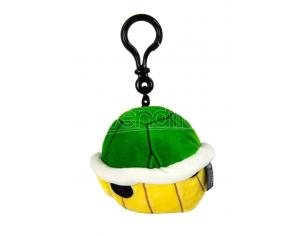 Mario Kart Mocchi-mocchi Clip On Peluche Hanger Green Shell 10 Cm Tomy
