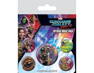 Guardians Of The Galaxy Vol. 2 Spilla Badges 5-pack Rocket & Groot Pyramid International