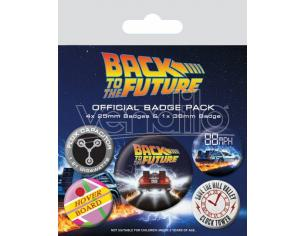 Ritorno Al Futuro Spilla Badges 5-pack Delorean Pyramid International