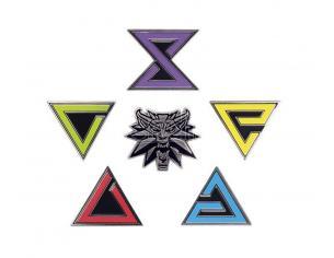 Witcher 3 Wild Hunt Spilla Badges 6-pack Dark Horse