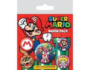 Super Mario Spilla Badges 5-pack Pyramid International