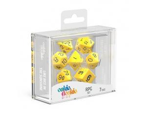 Oakie Doakie Dice RPG Set Solid - Yellow (7) Oakie Doakie Dice
