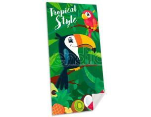 Tropical Style Toucan Cotone Telo Mare Bambino Licensing