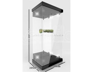 Master Light House Acrylic Display Case Con Lighting For 1/4 Action Figures (black) Legend Studio
