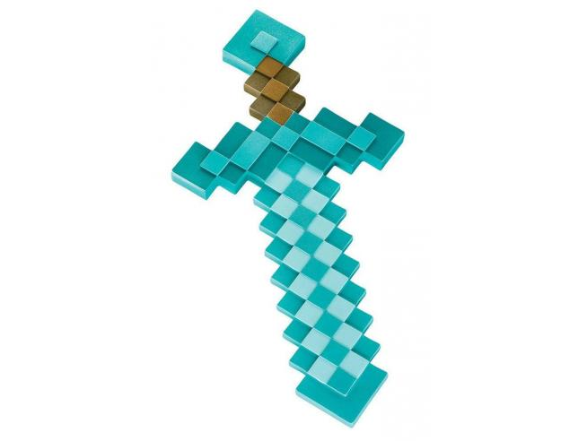 Minecraft Serie Videogiochi Figura Replica Spada Diamante Plastica 51 cm Altro