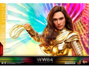 Wonder Woman 1984 Film Statua Figura Wonder Woman Armatura Dorata Versione Deluxe 30 cm Hot Toys