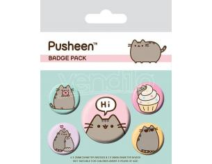 Pusheen Spilla Badges 5-pack Pusheen Says Hi Pyramid International