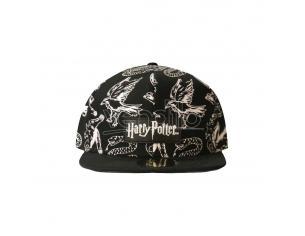 Harry Potter Cappellino Cappellino Snapback Heraldic Animals Bw Difuzed