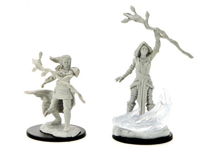 D&d Nolzur Mum Human Female Druid 3 Miniature E Modellismo Wizbambino
