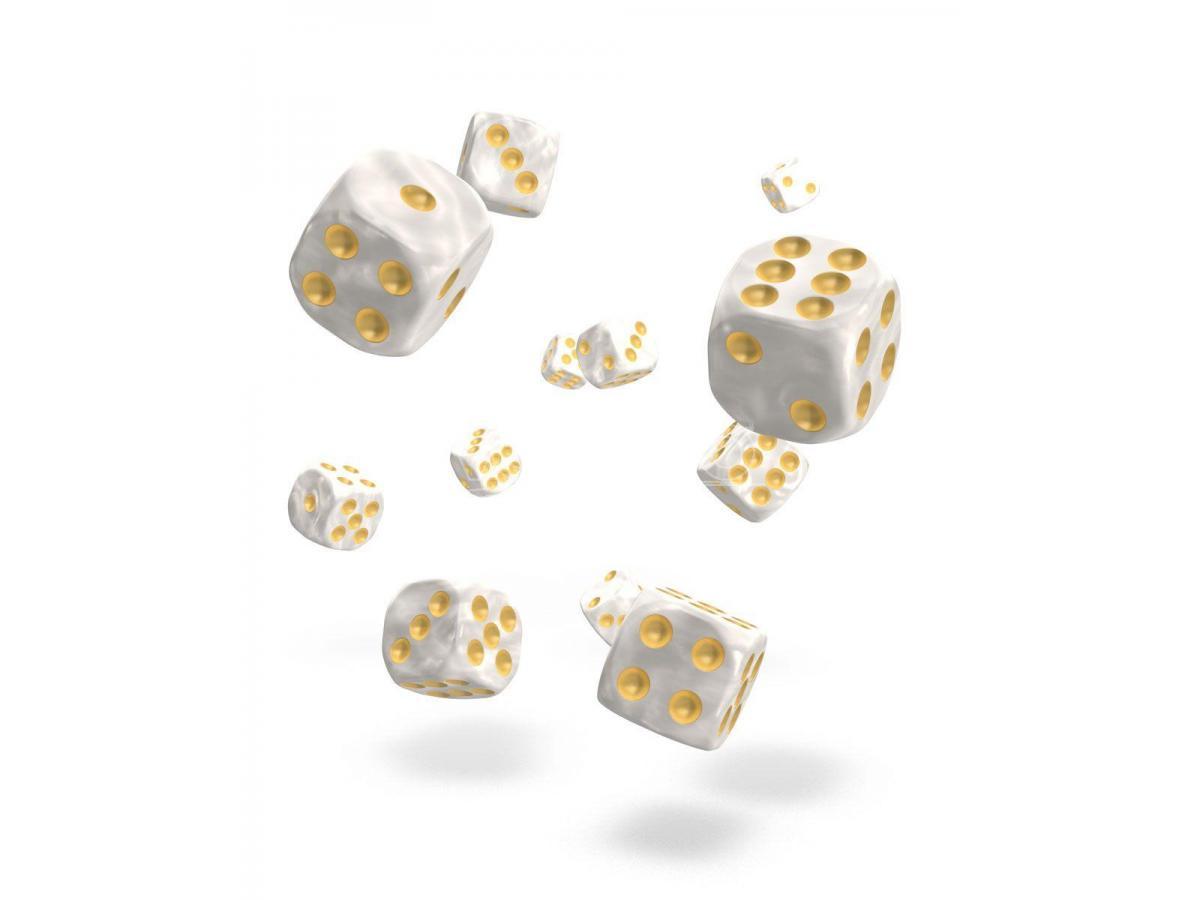 Oakie Doakie Dice D6 Dice 12 Mm Marble - White (36) Oakie Doakie Dice