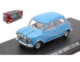 GREENLIGHT GREEN86549 AUSTIN MINI COOPER S 1275 MKI THE ITALIAN JOB 1969 LIGHT BLUE 1:43 Modellino