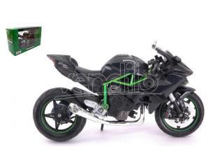 MAISTO MI32708 KAWASAKI NINJA H2 R BLACK/GREEN 1:12 Modellino