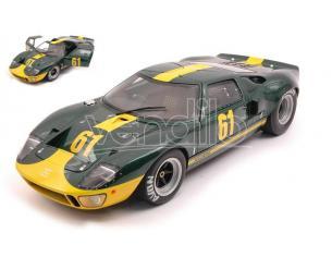 SOLIDO SL1803004 FORD GT 40 MK1 N.61 1968 GREEN RACING CUSTOM 1:18 Modellino