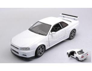 WELLY WE24108WW NISSAN SKYLINE GT-R (R34) WHITE 1:24 Modellino