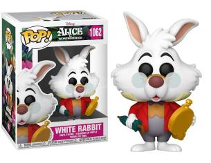 Alice nel Paese delle Meraviglie 70th Anniversario Disney Funko POP Vinile Figura Bianconiglio con Orologio 9 cm
