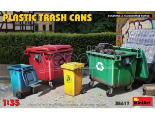 Miniart Min35617 Plastica Trash Cans Kit 1:35 Modellino