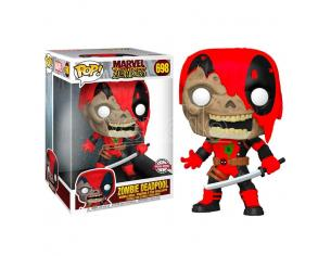 Marvel Zombies Funko Pop Vinile Figura Zombie Deadpool Esclusiva 25 cm