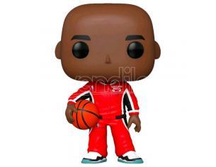 Nba Chicago Bulls Funko Pop Vinile Figura Michael Jordan Tuta Rossa Esclusiva 9 cm