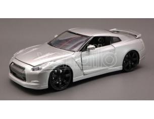 New Ray NY71933 Nissan Gtr 2009 Silver 1:24 Modellino