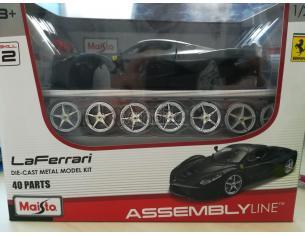 La Ferrari Modellino Die Cast Kit In Metallo Assembly Line Scala 1:24 Maisto