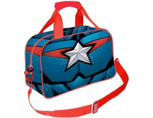 Captain America Borsa Sportiva Blu Scuro Civil War Karactermania