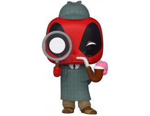 Marvel Deadpool Funko Pop Vinile Figura Sherlock Deadpool Esclusiva 9 cm