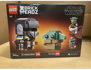 LEGO BRICKHEADZ 75317 - STAR WARS: IL MANDALORIANO E IL BAMBINO SCATOLA ROVINATA