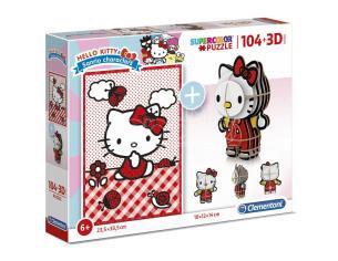 Hello Kitty 104 + 3D puzzle 104pcs Clementoni