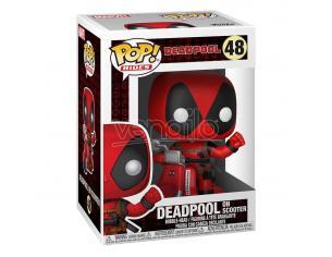 Deadpool Pop! Rides Vinile Figura Deadpool & Scooter 9 Cm Funko
