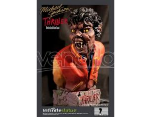 Busto Michael Jackson Thriller 1982 Statua Resina 18 Cm Infinite SCATOLA ROVINATA